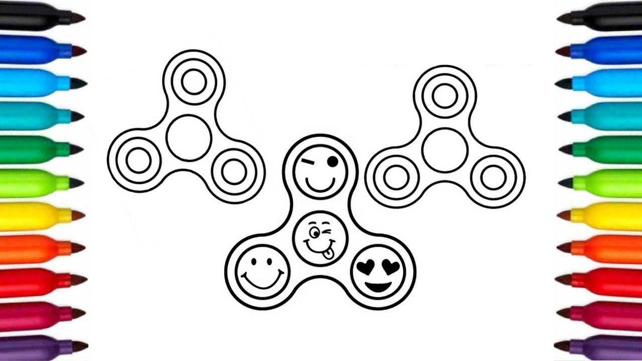 Fidget Spinner Colouring Page Coloring Pages For Kids