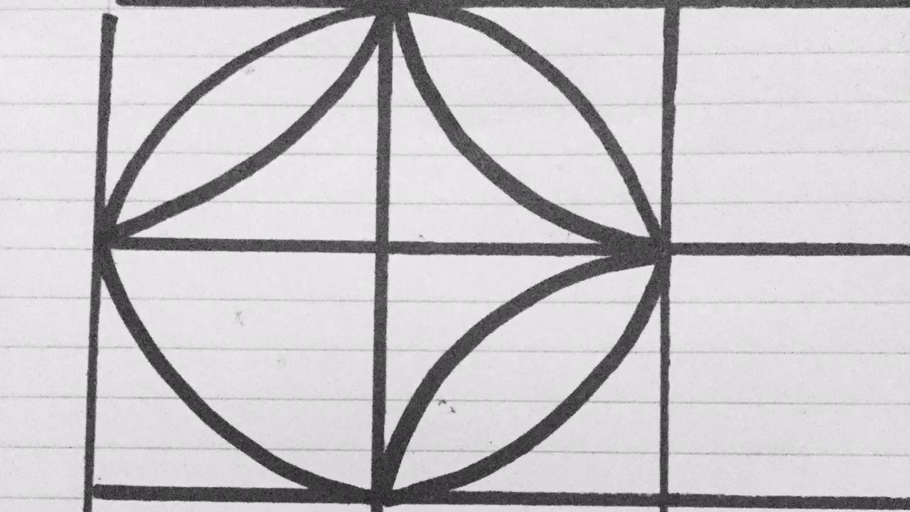 رسم زخرفة هندسية سهلة وبسيطة جدا بدون أدوات فقط نعمل مربعات بالمسطرة والباقي باليد لطلاب المدارس 20 Youtube