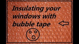 How to use bubble wrap as window insulation DIY Video