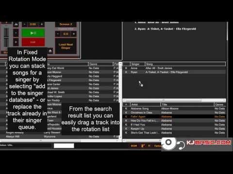 KJBASIC Easy to use Windows Karaoke Laptop software for Karaoke Disc Jockeys karaoke for dummies