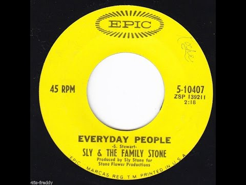 """Everyday People"" w/Lyrics- Sly and the Family Stone"