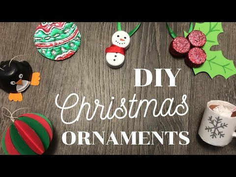 6 DIY Christmas Ornaments using things you ALREADY HAVE!  Easy Up-cycled/Recycled Tree Decor