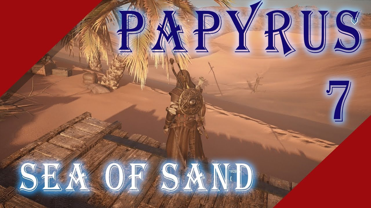 In S Creed Origins Sea Of Sand Papyrus