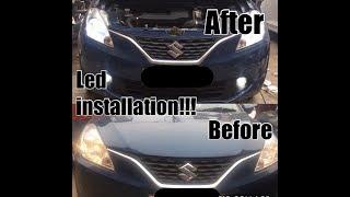 White led in baleno | baleno led lights | baleno modified | white led light | Led Light for car