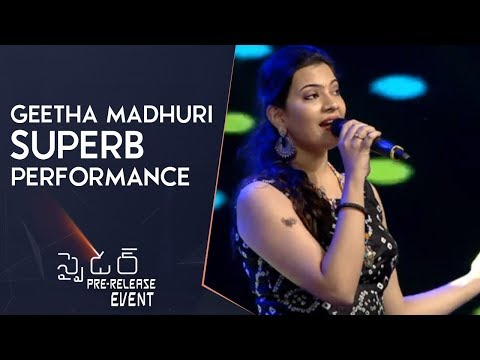 Singer Geetha Madhuri Singing Akkada Vunnavadu Song | Mahesh Babu | A R Murugadoss | Rakul Preet