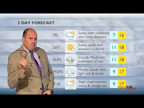 Ivan Yates presents the weather on TV3 - FULL VERSION