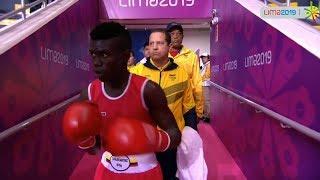 (49kg) MARTINEZ RIVAS Yuberjen (COL) vs LAVEGAR CEPEDA Mario (DOM) PanAmerican Games Lima 2019
