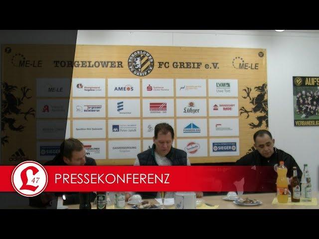 Oberligateam: Pressekonferenz nach dem Spiel Torgelower FC Greif – Lichtenberg 47