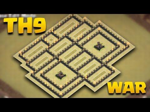 TH 9 Weirdest War Base Ever (THE ROBO) | Best Town Hall 9 Anti 3 Star War Base | Clash Of Clans