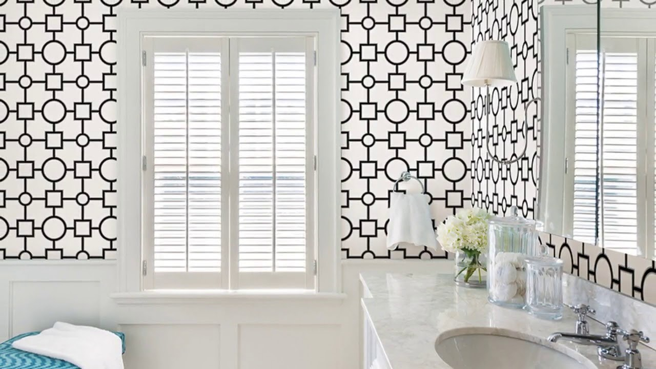 Modern Wallpaper Designs for India Bathroom - YouTube