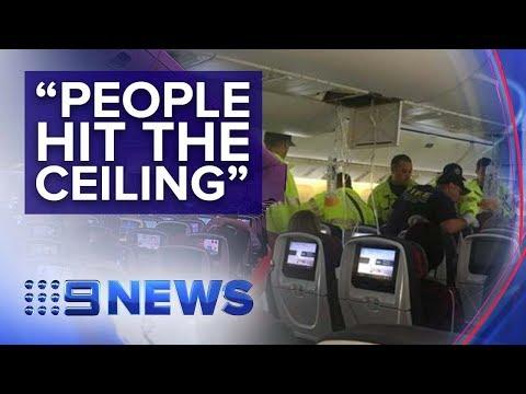 Plane makes emergency landing in Hawaii after turbulence injures dozens   Nine News Australia