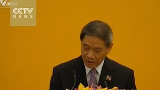 Zhang Zhijun briefs press on Xi-Ma meeting in Singapore