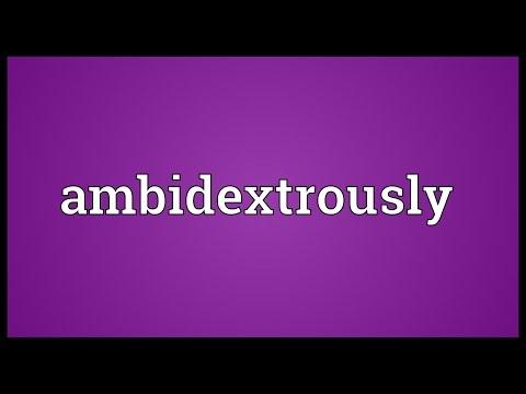 Header of ambidextrously