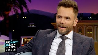 Joel McHale Doesn't Like to Hold It (& Betty Gilpin Does)