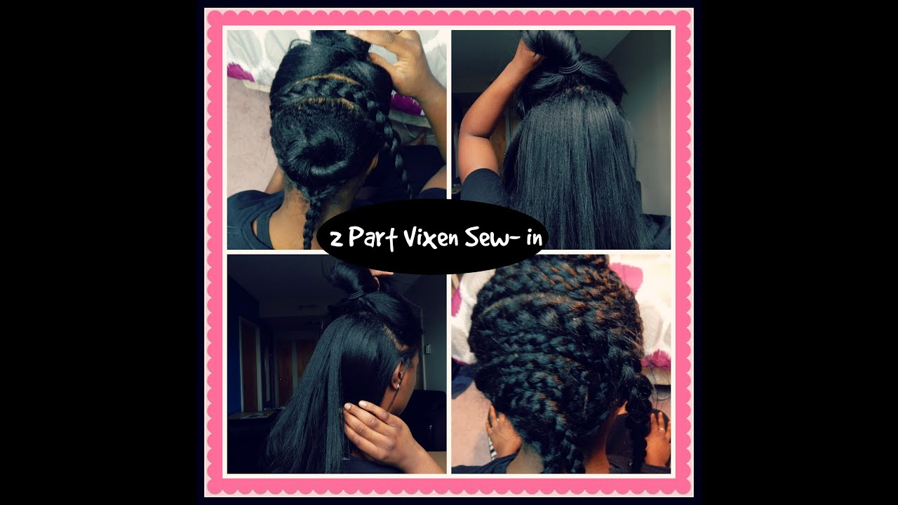 1st Time Doing My Vixen Sew In Extensions Versatile Flip Over