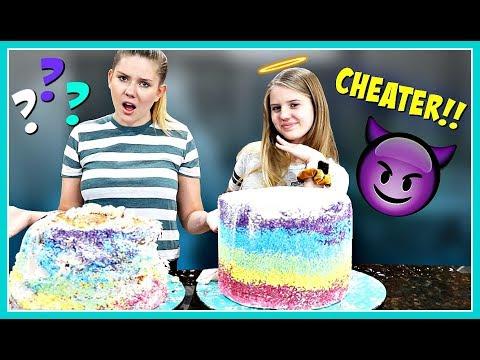 Vanessa Cheated!! | Prank Wars Cake Challenge | Taylor & Vanessa