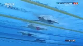 2018亚运会 1500米自由泳决赛录像 孙杨成功卫冕 期间曾被越南选手超越