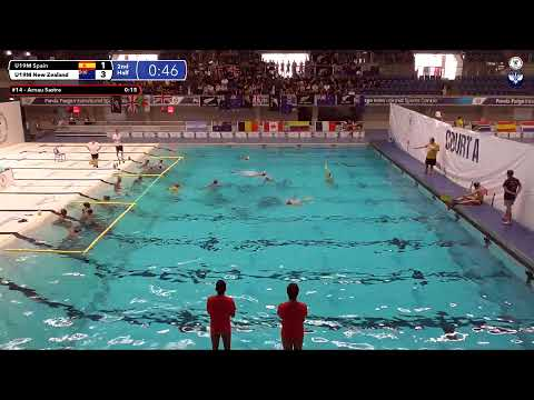 Game 193  (NZL vs ESP U19M) - 5th CMAS Underwater Hockey Age Group Worlds - Sheffield, UK (Court A)