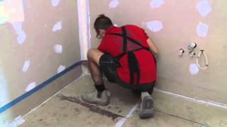 Bathroom floor waterproofing