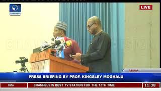 Press Briefing By Prof Kingsley Moghalu Pt 1