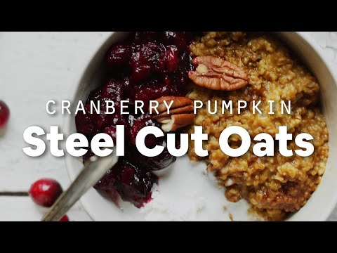 Cranberry Pumpkin Steel Cut Oats | Minimalist Baker Recipes