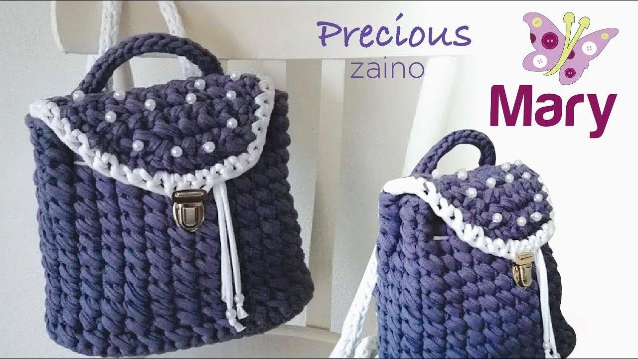 Zaino Precious Uncinetto Fettuccia Youtube