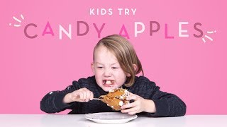 Kids Try Candy Apples | Kids Try | HiHo Kids