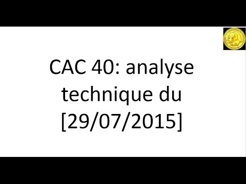 L'analyse technique de la Bourse de Paris [29-07-2015] par Tradosaure-trading