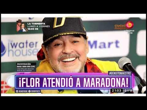 ¡Flor atendió a Maradona!