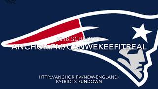 New England Patriots 2018 Schedule