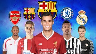 Latest transfer news | coutinho to barcelona, griezmann alex sandro chelsea and more. is coming thick fast as europe's big...