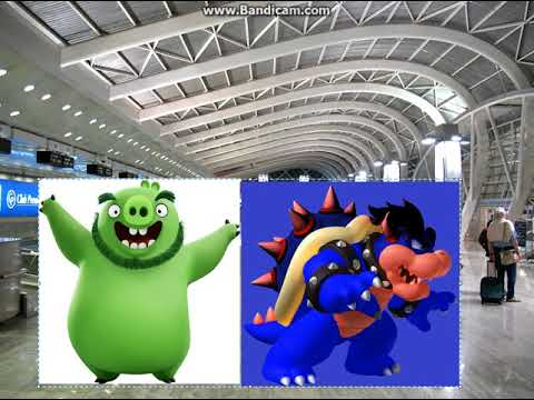 Dark Bowser And Leonard Pig Escape From Japan/Both Grounded