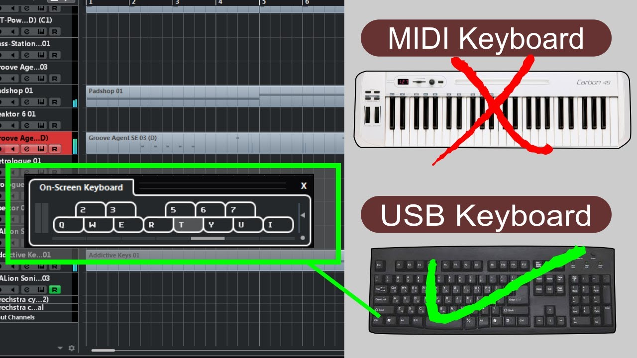 how to connect a midi keyboard to cubase