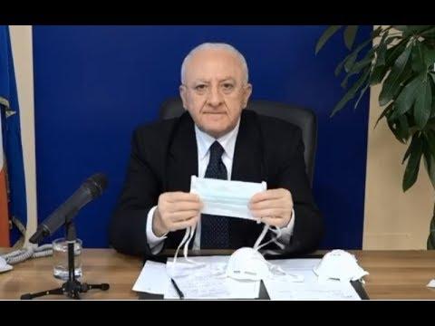 Campania - De Luca: 'Misure del Governo efficaci ma tardive' (27.03.20)