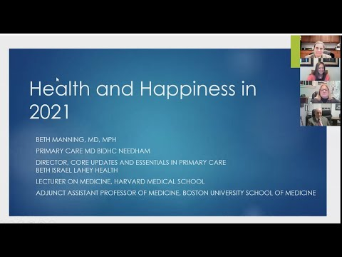 BID Needham Speaker Series: Healthy \u0026 Happy New Year With Beth Manning, MD, MPH