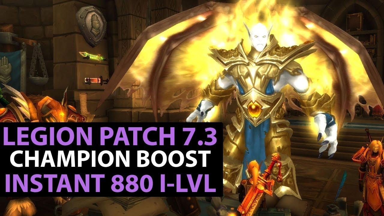 world of warcraft legion patch 7 3 follower champions instant
