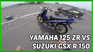 Drag Yamaha 125 ZR  VS GSX R 150 VS Aprilia 125 RS