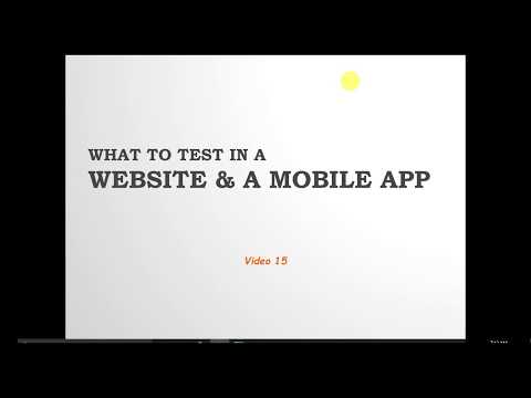 V15:   How To Do Testing For Web And Mobile Application
