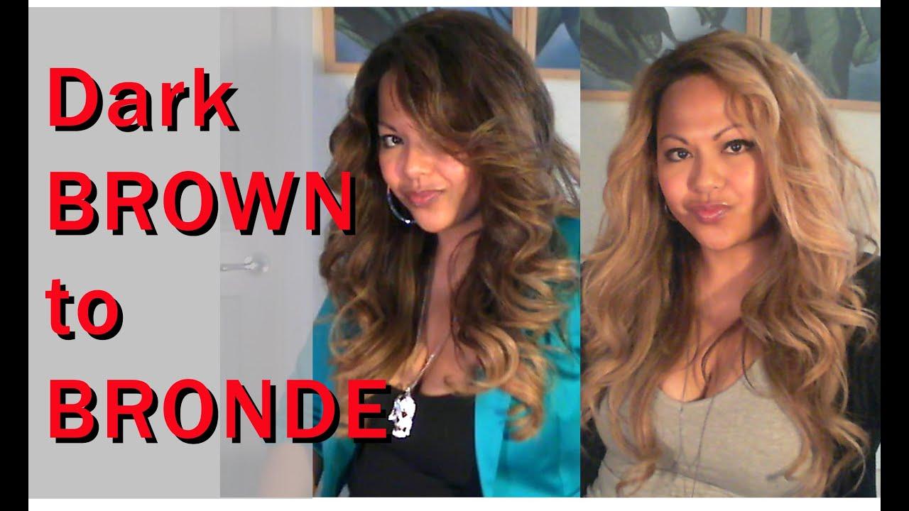Dark Brown To Bronde Blonde Lightening Toning No Orange