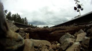 AMAZING! GO PRO UNDER 75MPH Train!!!