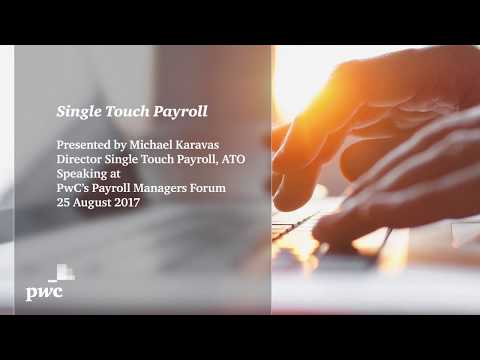 Single Touch Payroll presentation by Michael Karavas