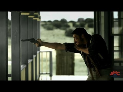 Billy the Kid Comes Out of a Burning House Guns Blazing | Gunslingers