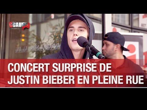 Justin Bieber Donne Un Concert Surprise En Pleine Rue - C'Cauet Sur NRJ