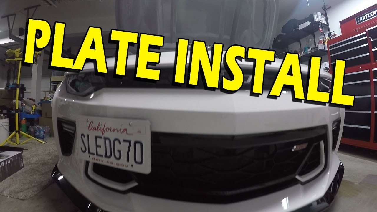 Zl1addons Front License Plate Mount Install Guide 2016