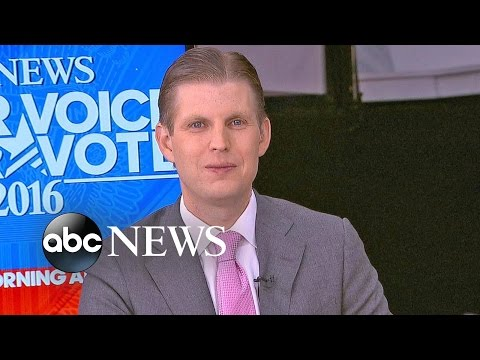 Eric Trump On RNC Speech, Dad's Presidential Nomination