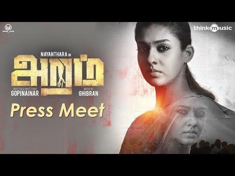 Aramm Movie Press Meet | Nayanthara | Ghibran | Gopi Nainar