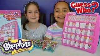 Shopkins Guess Who Game Toy Challenge | Shopkins Season 2,3,4 Blind Bags Prizes