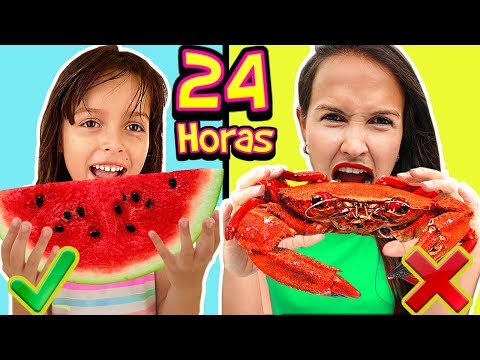 24 Horas Comiendo Rojo | All Day Eating Red Challenge