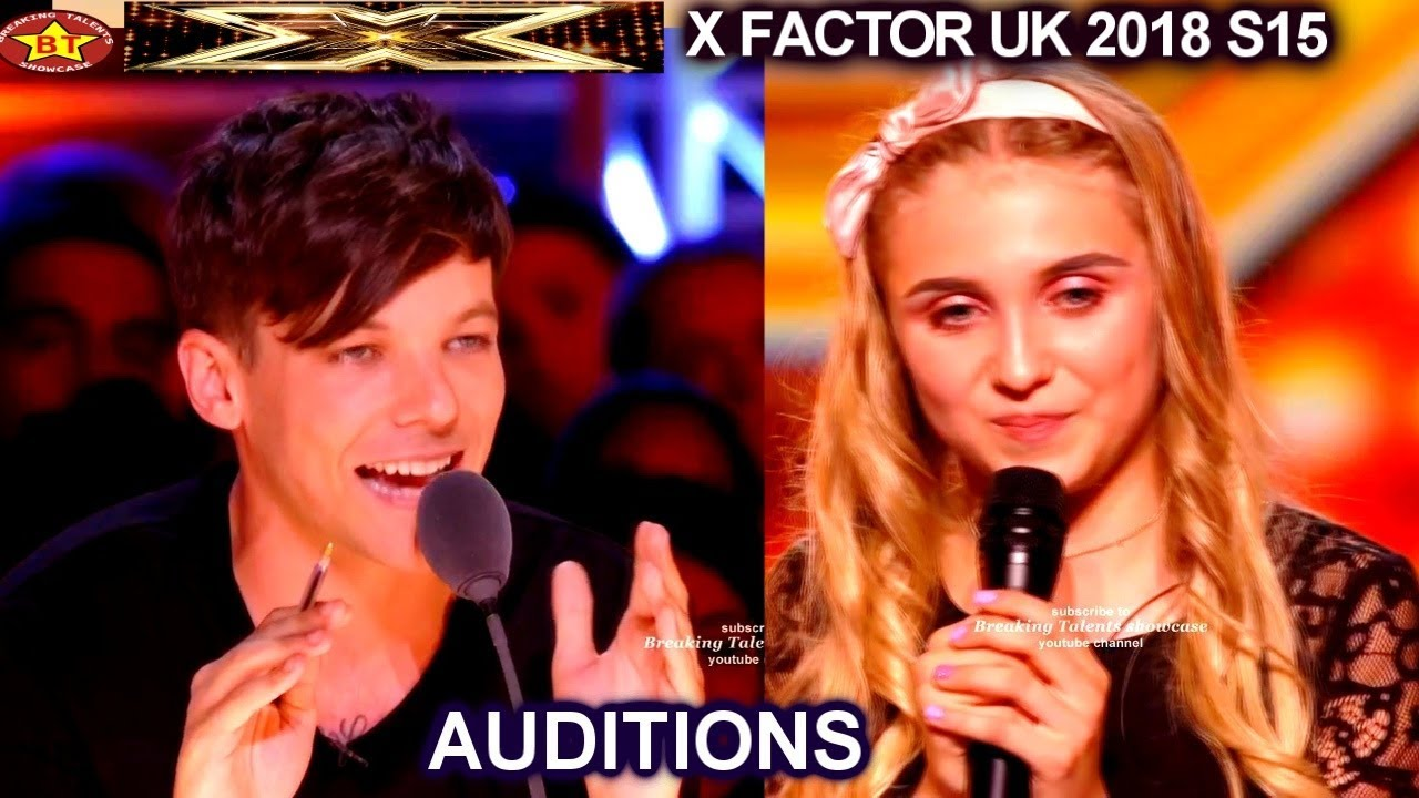 Kezia Povey 15 year old- Louis Tomlinson Says She Needs Direction AUDITIONS  week 1 X Factor UK 2018