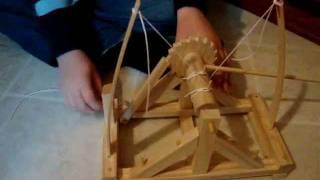 Leonardo Da Vinci Catapult Kit From Thinkgeek.com